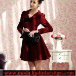 bordo elbise modeli