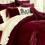 bordo yatak örtüsü modeli