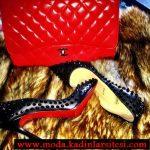 chanel siyah ayakkabı ve çanta modeli
