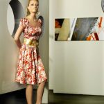 desenli elbise modeli