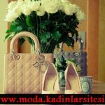 dior krem ayakkabı çanta modeli