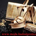 dore parlak ayakkabı çanta modeli