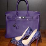 eflatun ayakkabı çanta modeli