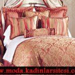 elegan yatak örtüsü modeli