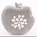 elma figürlü gece çantası modeli