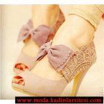 fiyonk detaylı ayakkabı modeli