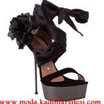 güllü şifon ayakkabı modeli