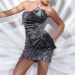 gümüş rengi gece elbise modeli