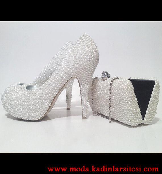 d35fa666ba5f6 inci detaylı ayakkabı çanta modeli – moda bayan giyim kadın elbise ...