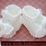 inci detaylı beyaz patik modeli