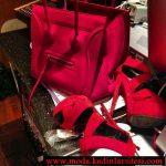 kırmızı ayakkabı çanta modeli