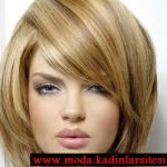 kısa fönlü saç modeli