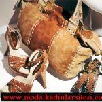 kahve rengi nubuk ayakkabı çanta modeli