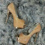 kahverengi burnu açık bayan ayakkabı