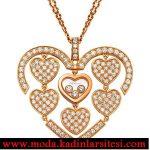 kalpli taşlı kolye ucu modeli