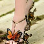 kelebek figürlü ayakkabı modeli