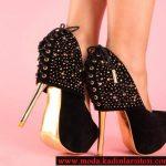 korse modelli siyah ayakkabı