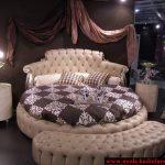 krem derş yatak odası modeli