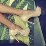 krem rugan fiyonk detaylı ayakkabı modeli