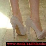 krem taşlı ayakkabı modeli