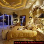krem yatak odası modeli