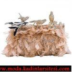 kuş figürlü gece çantası modeli
