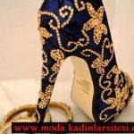 laci dore taşlı ayakkabı modeli