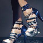 lacivert ipli ayakkabı modeli