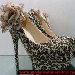 leopar desenlifitilli ayakkabı modeli