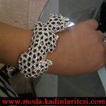 leopar figürlü bilezik modeli