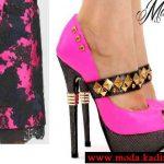 maria lorenzo fuşya ayakkabı modeli