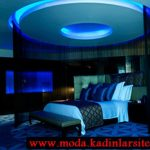 mavi lüx yatak odası modeli