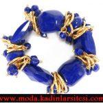 mavi taşlı bileklik modeli