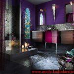 mor marokan stili banyo modeli