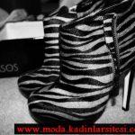 parlak zebra deseni bot modeli
