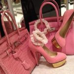 pembe bayan ayakkabı çanta kombini