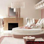 pembe sıra dışı yatak odası modeli