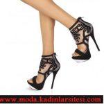 platformlu zımbalı ayakkabı modeli
