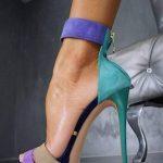 renkli platform ayakkabı moeli