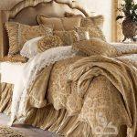 sütlü kahve şık yatak örtüsü modeli