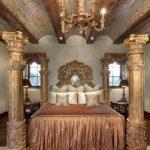 sütun detaylı yatak odası modeli