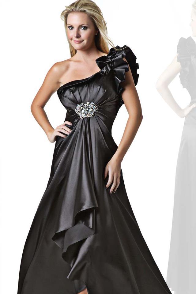 0747ee332d649 saten siyah kadın kıyafetleri modası – moda bayan giyim kadın elbise ...