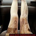 silah figürlü mus çorap modeli