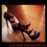 siyah şık ayakkabı modeli