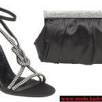 siyah ayakkabı çanta modeli