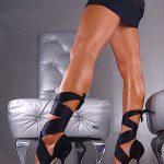 siyah bantlı ayakkabı moeli