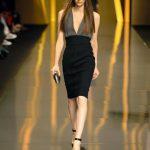siyah gri elbise modeli