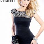 siyah işlemeli gece elbise modeli
