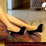 siyah kadife ayakkabı modeli