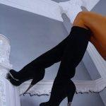 siyah nubuk çizme modeli